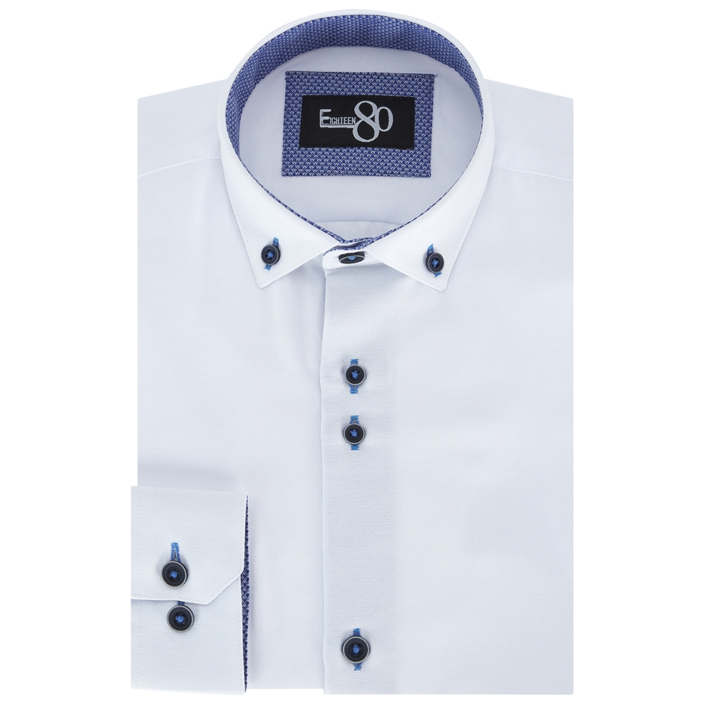 Henley Ben Kids Shirt in White