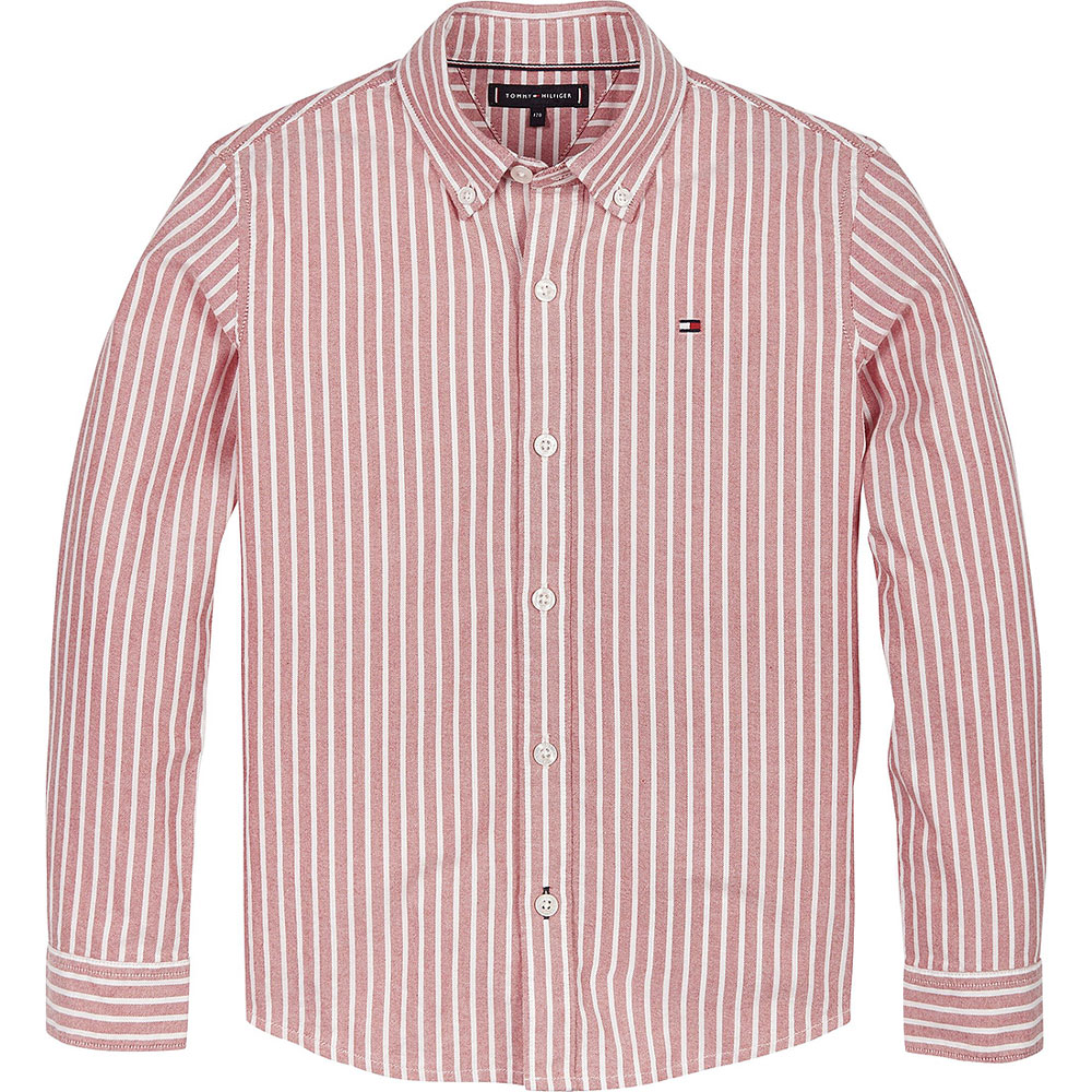 Kids Essential Oxford Shirt in Red