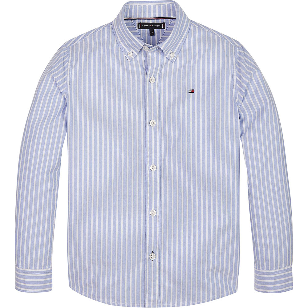 Kids Essential Oxford Shirt in Blue
