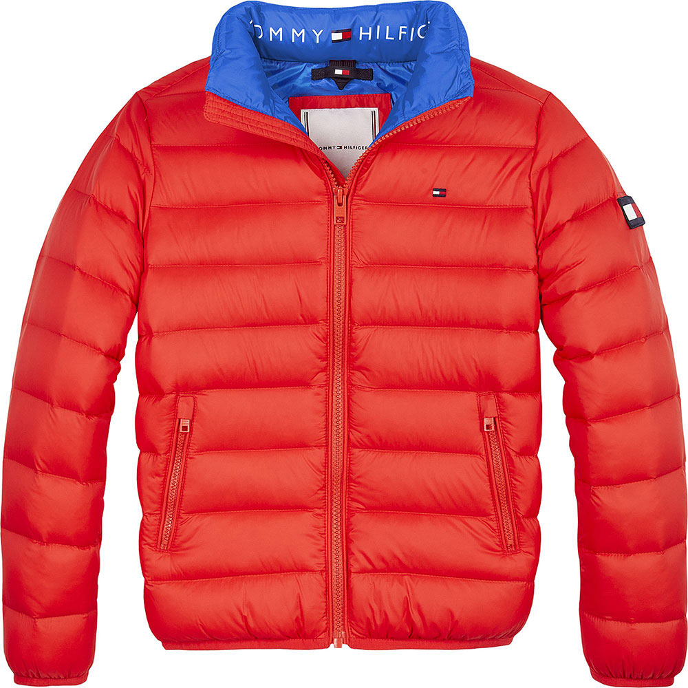 Kids Puffa Jacket in Red