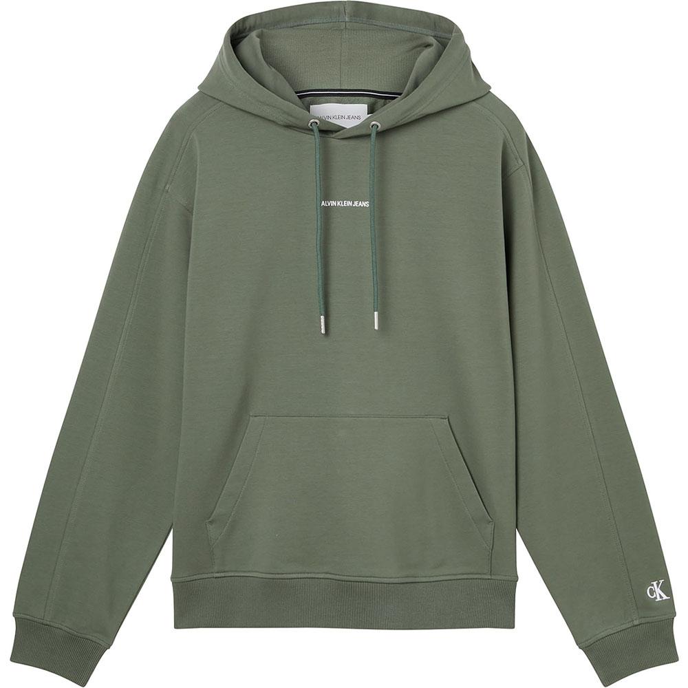 Micro Branding Hoodie in Green