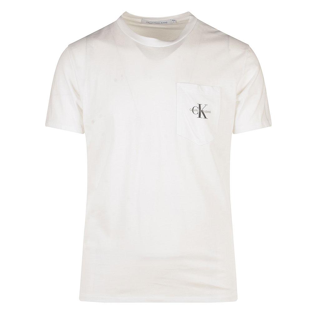 Monogram Pocket T-Shirt in White