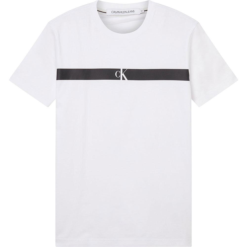 Horizontal Panel T-Shirt in White