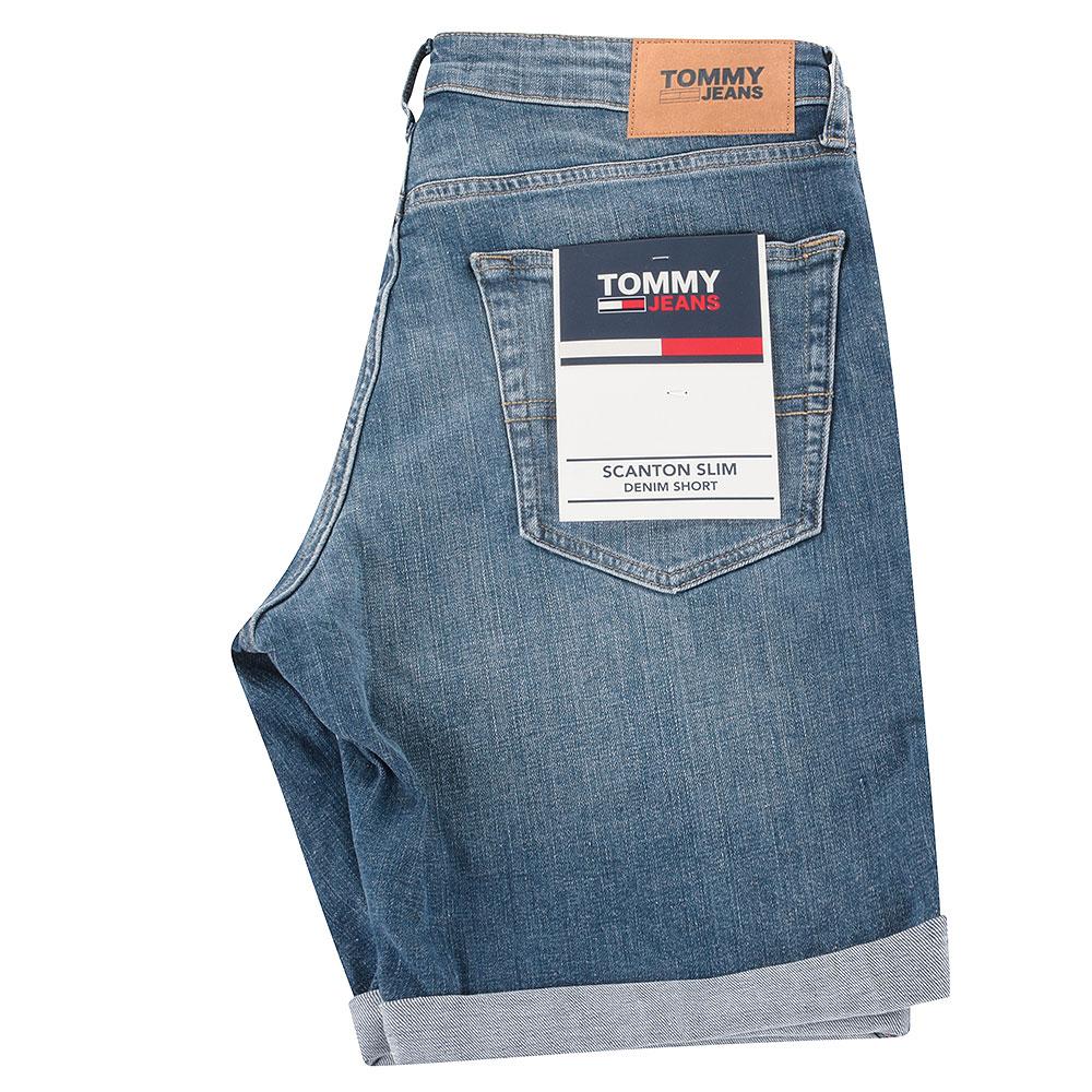Scanton Slim Jeans Shorts in Mid Stn