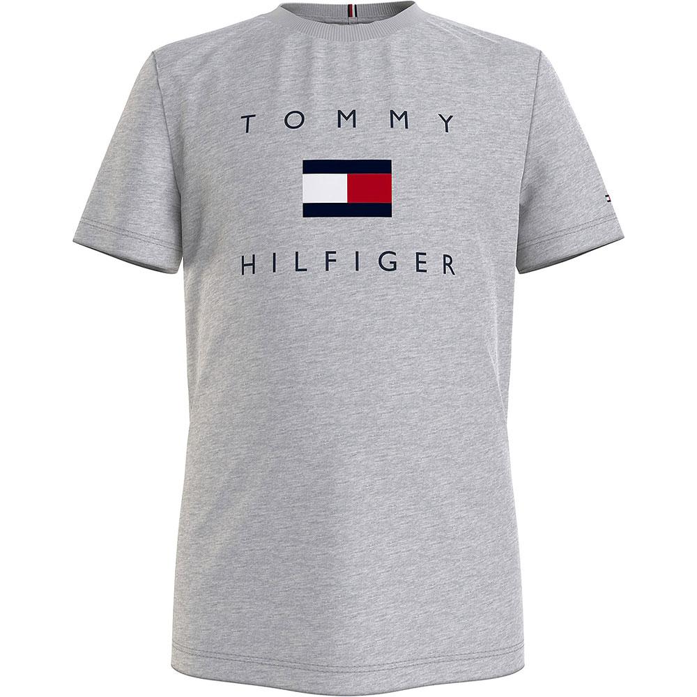 Hilfiger Logo T-Shirt in Lt Grey