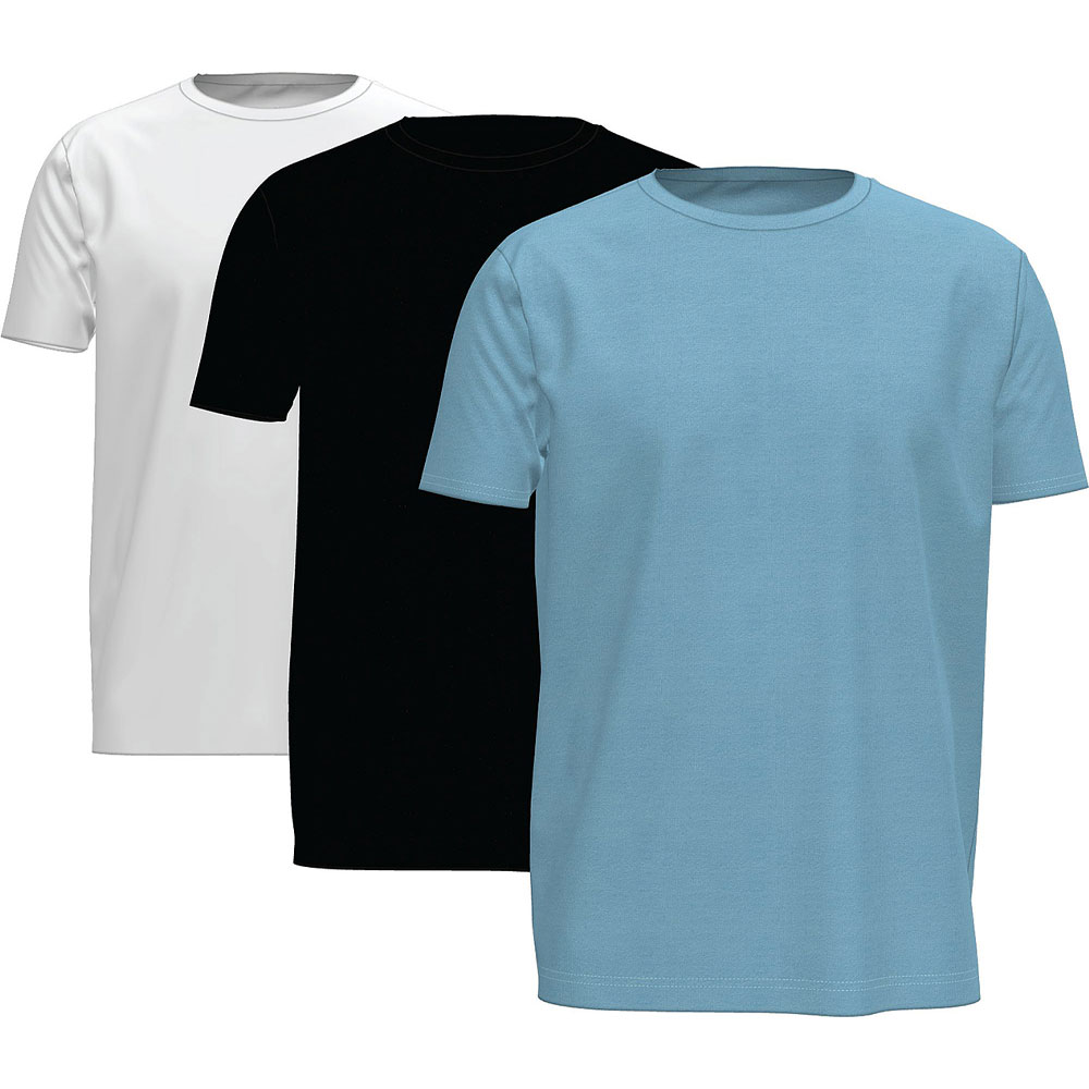 Cotton T-shirt 3 Pack in Black