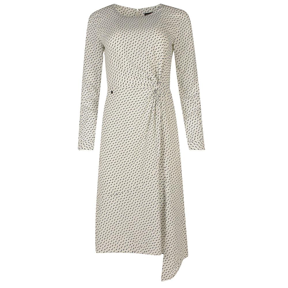 Ecovero Twist Dress in Stone