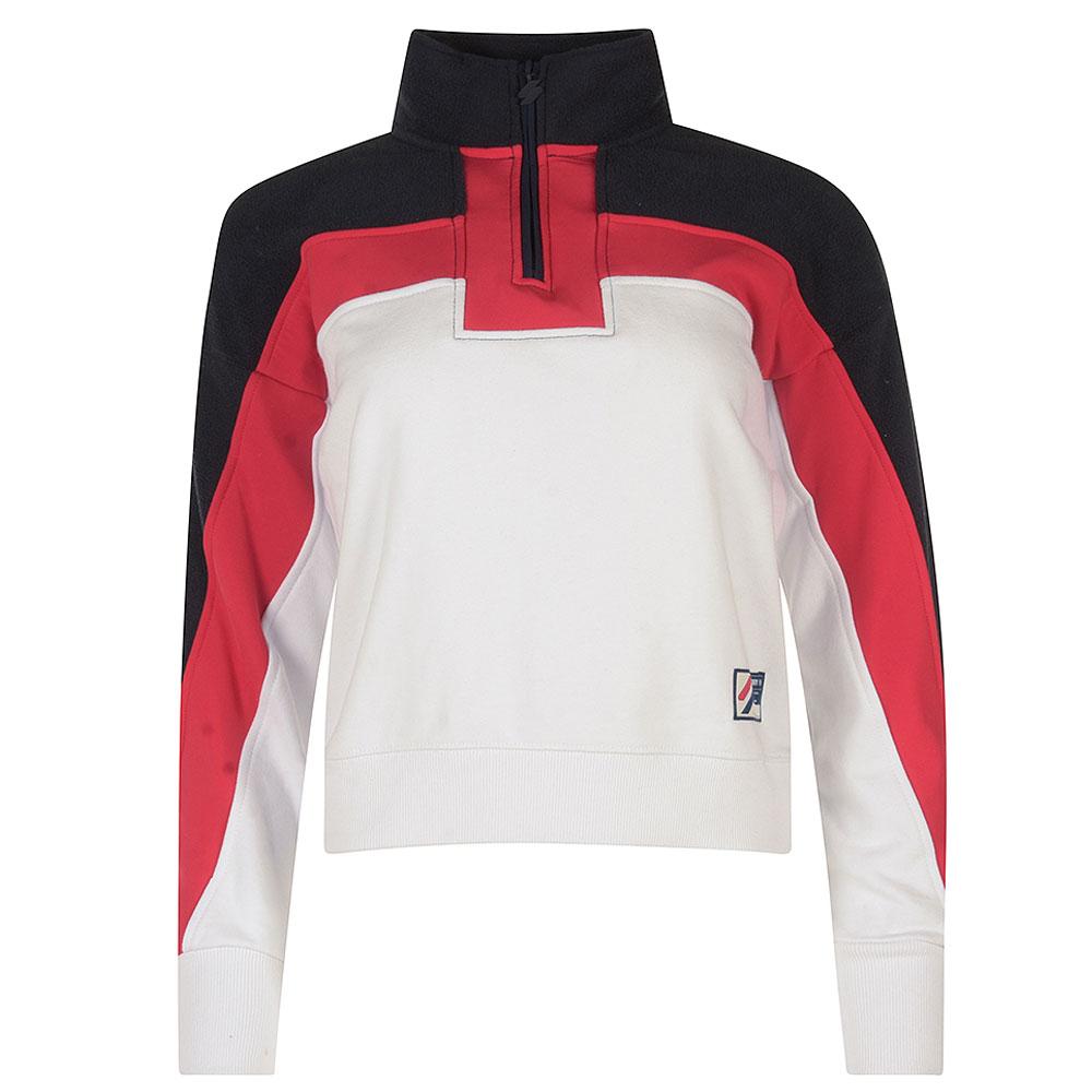 Dolman 1/4 Zip Sweatshirt in Navy