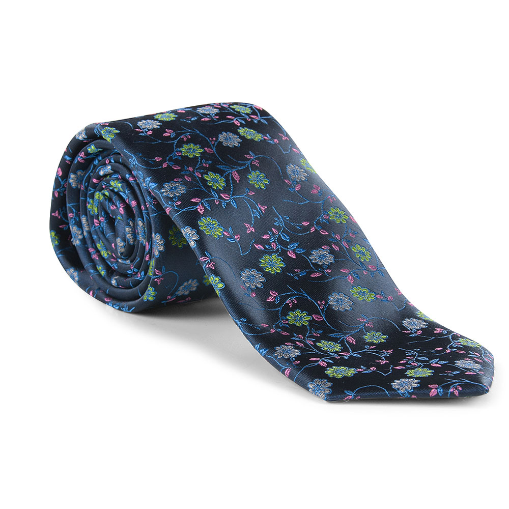 Tie and Pocket Square in Navy