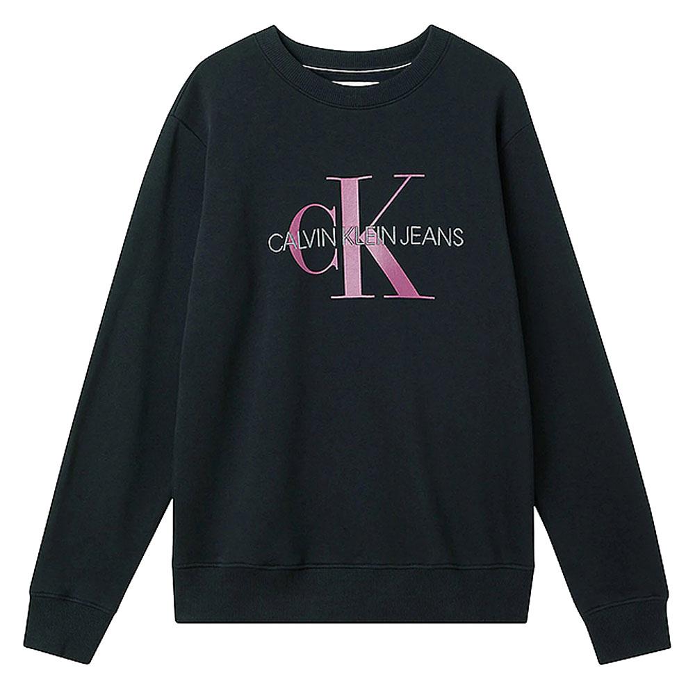 Monogram Crew Sweatshirt in Black