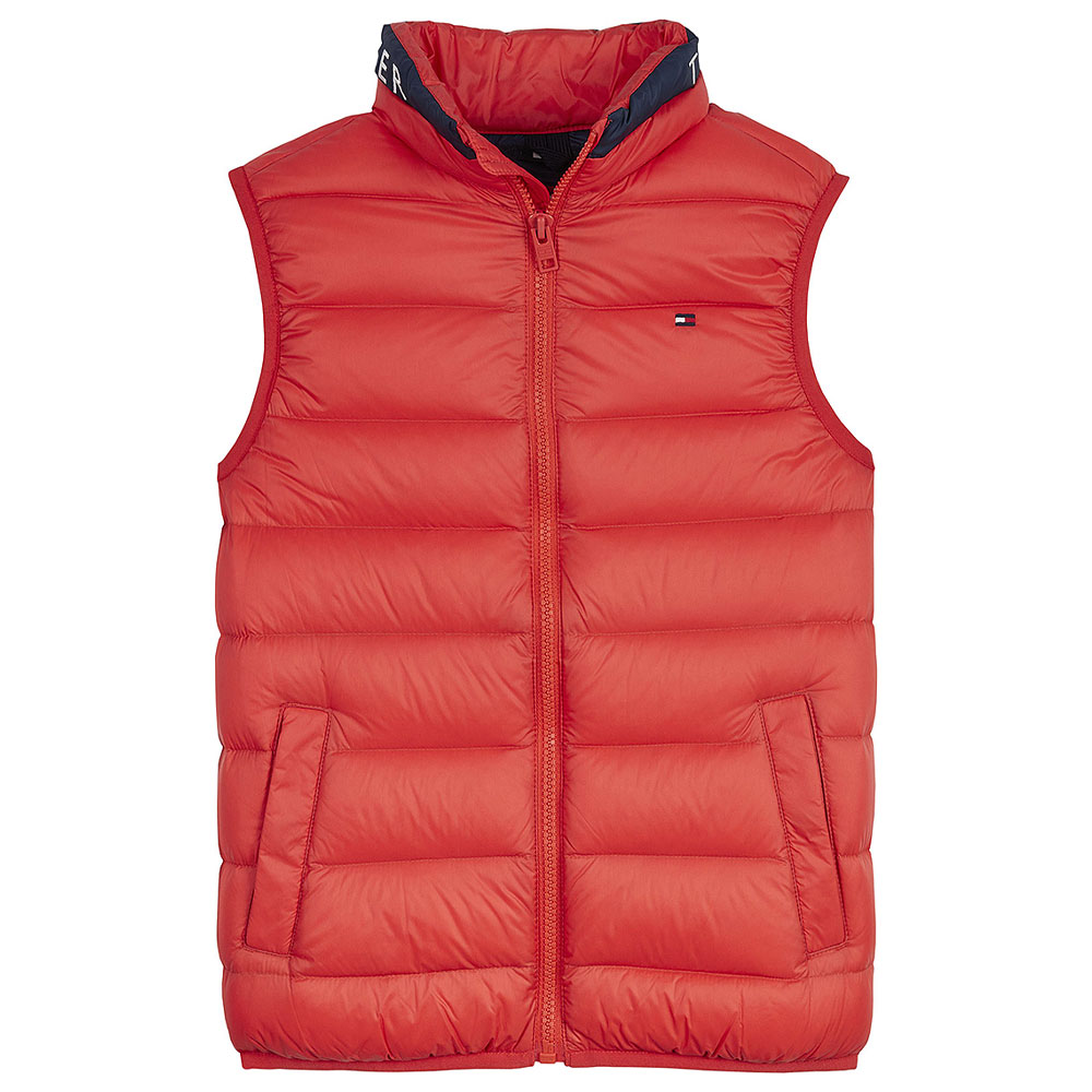 Kids Downfilled Gilet in Red
