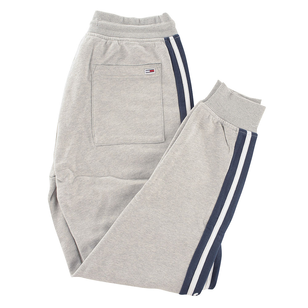 Rib Insert Sweatpants in Lt Grey