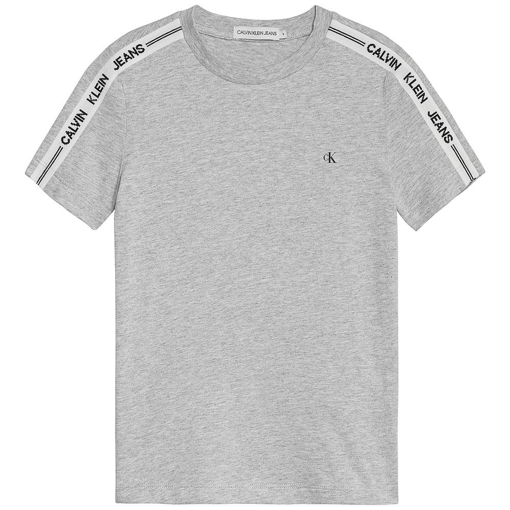 Kids Intarsia T-Shirt in Lt Grey