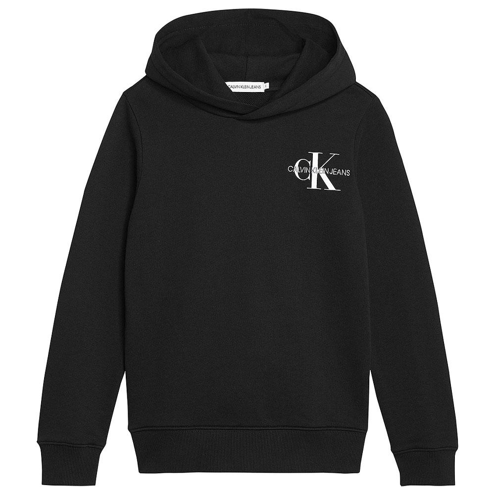 Kids Monogram Hoodie in Black