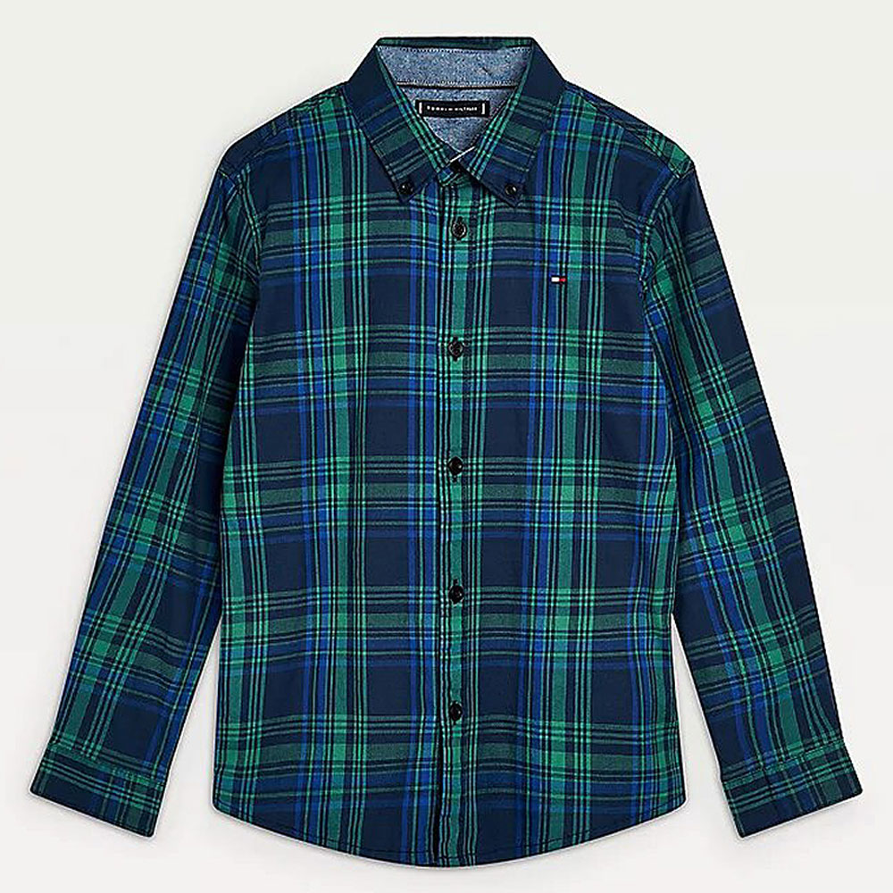 Classic Check Shirt in Green