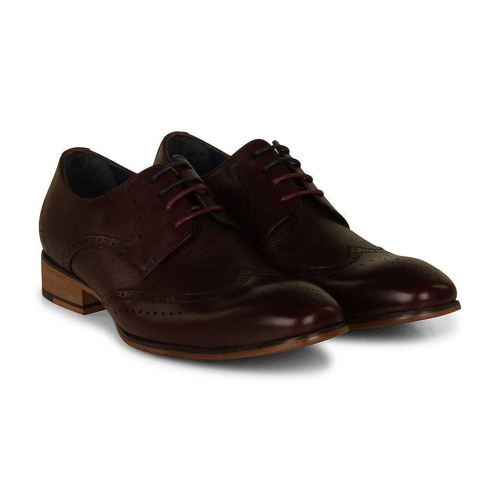 Twickenham Kids Shoe in Burgundy