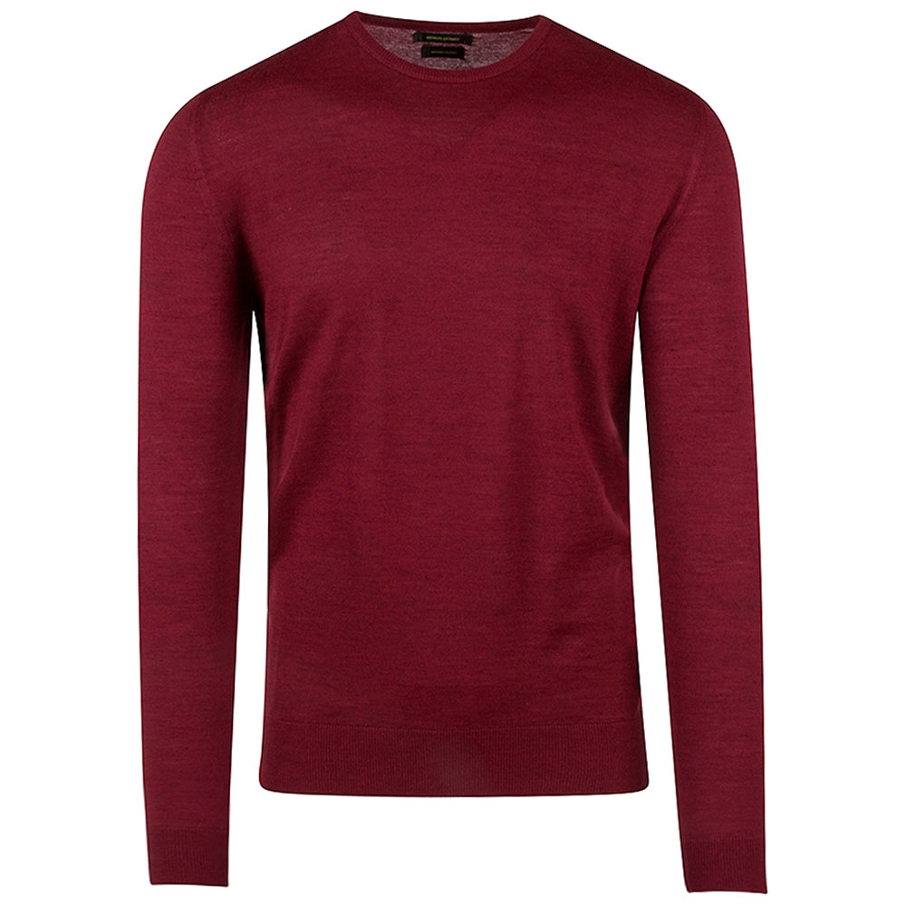 Crew Neck Sweater in Red