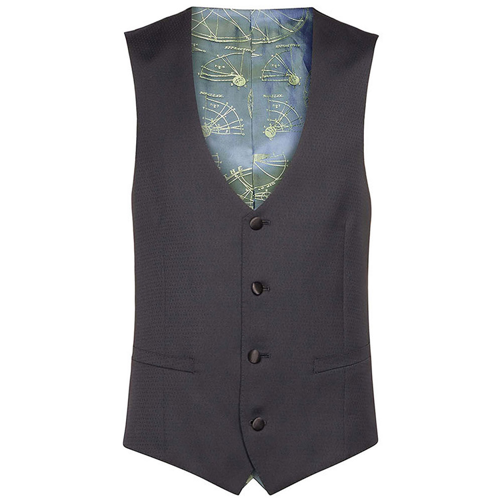 Remus Waistcoat in Black