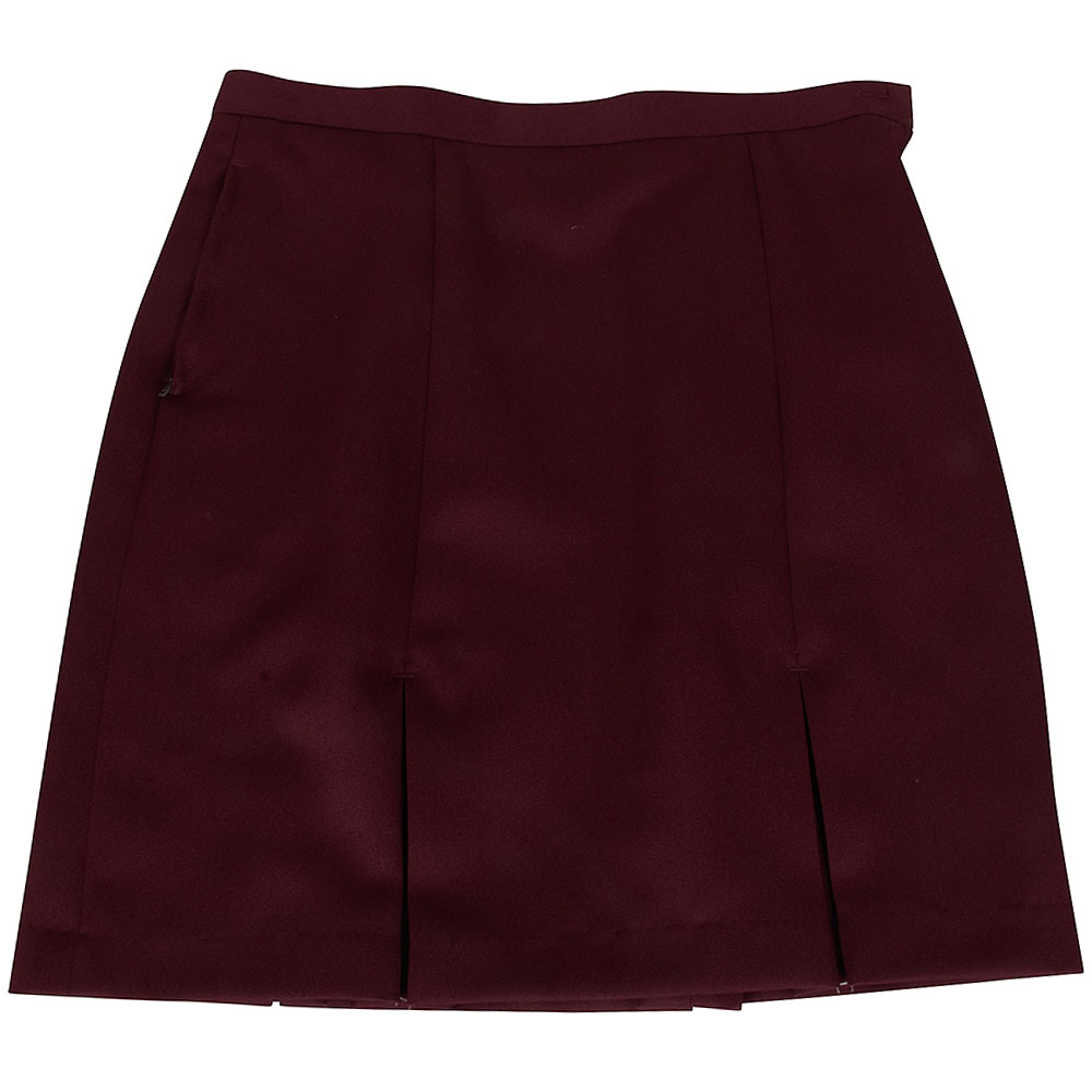 St Dominics Kick Pleat Skirt in Burgundy