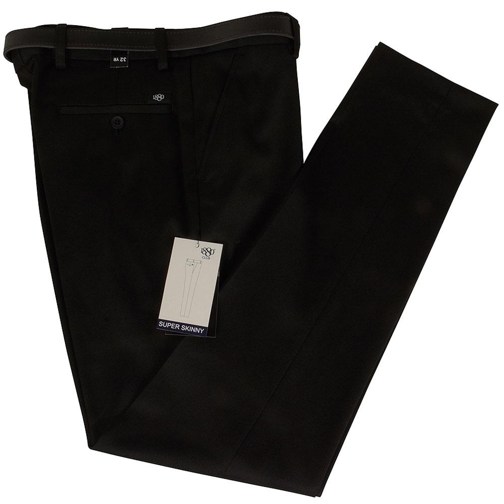 Boys Super Skinny Jnr School Trouser in Black
