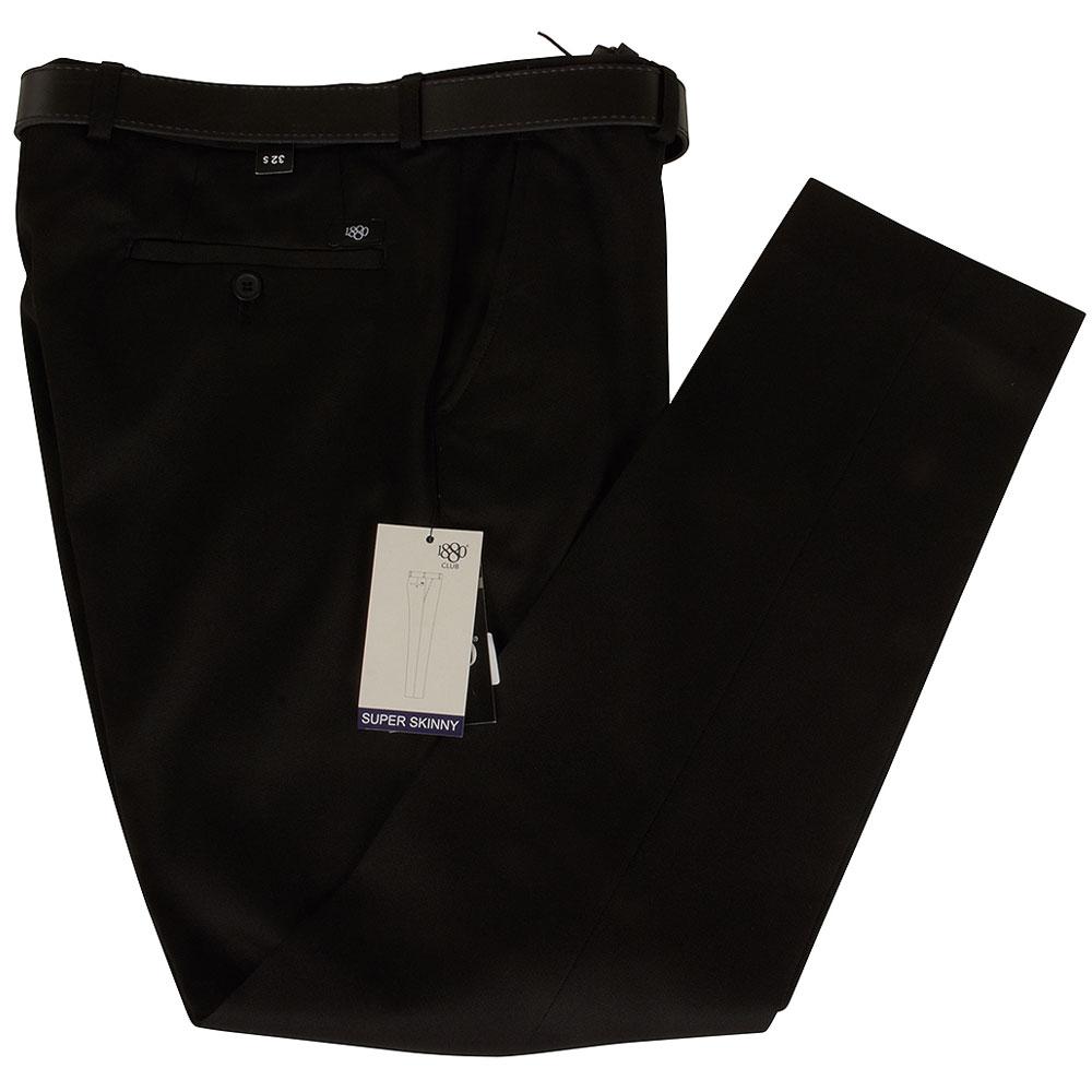 Boys Super Skinny Snr School Trouser in Black