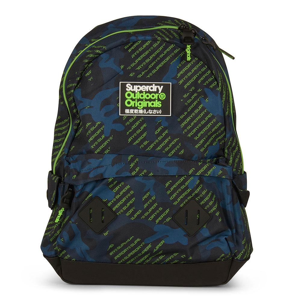 Logo Aop Camo Montana Backpack in Green
