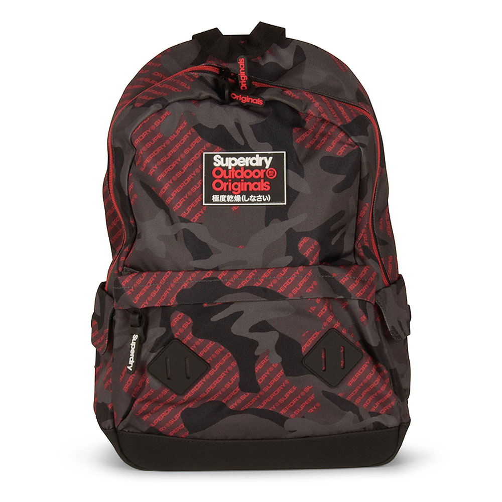 Logo Aop Camo Montana Backpack in Red