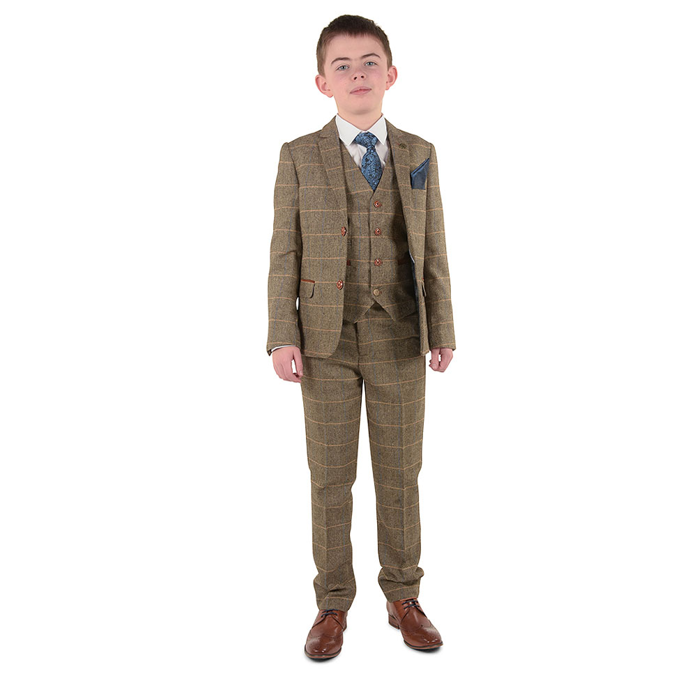 Boys Ted Suit in Tan
