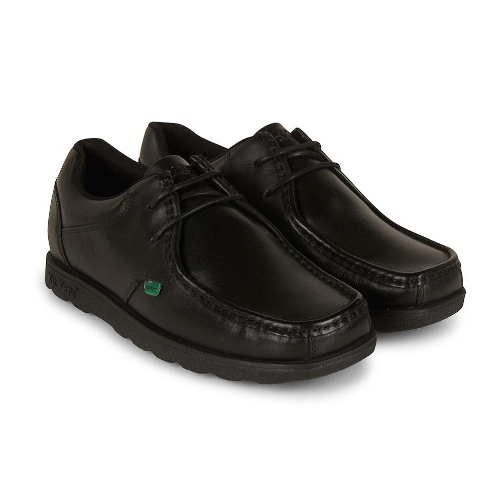 Fragma Lace School Shoe in Black