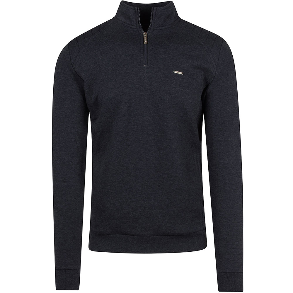 Basil Half Zip in Navy