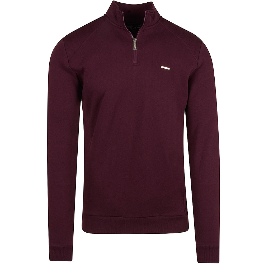 Basil Half Zip in Burgundy