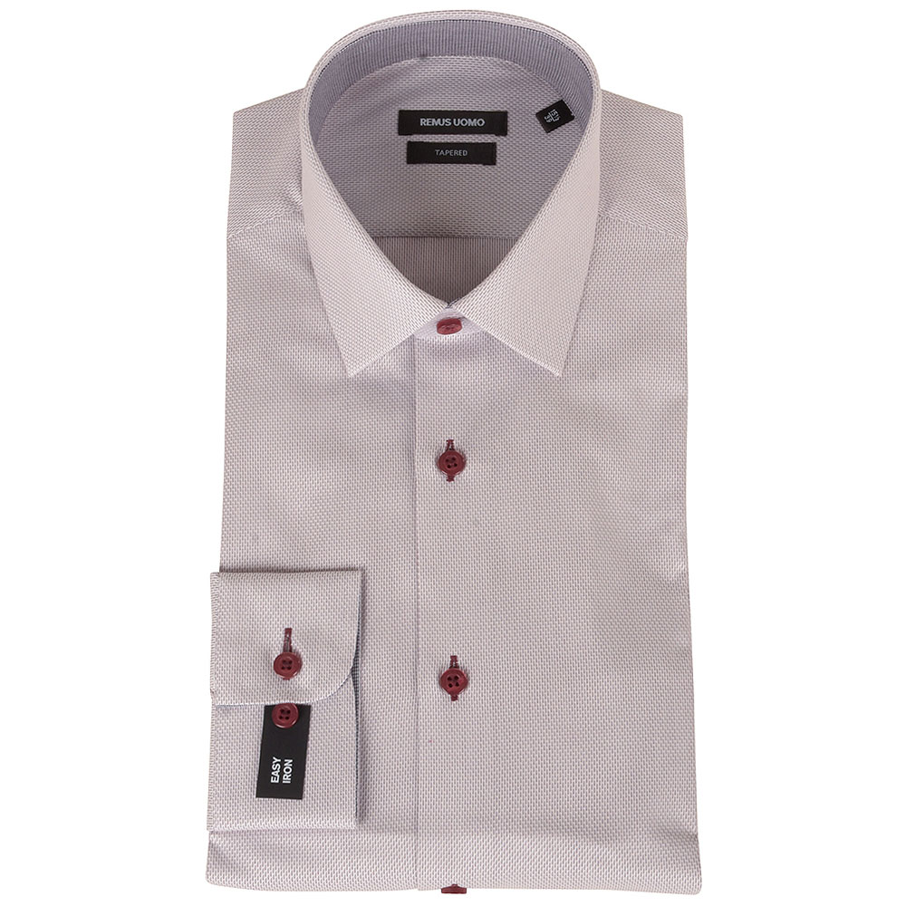 Tapered Shirt in Wine