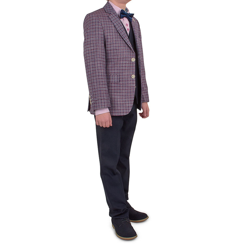 Boys D'arcy Suit in Wine