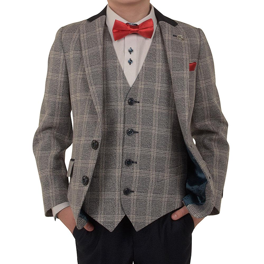 Boys Doyle Waistcoat in Grey