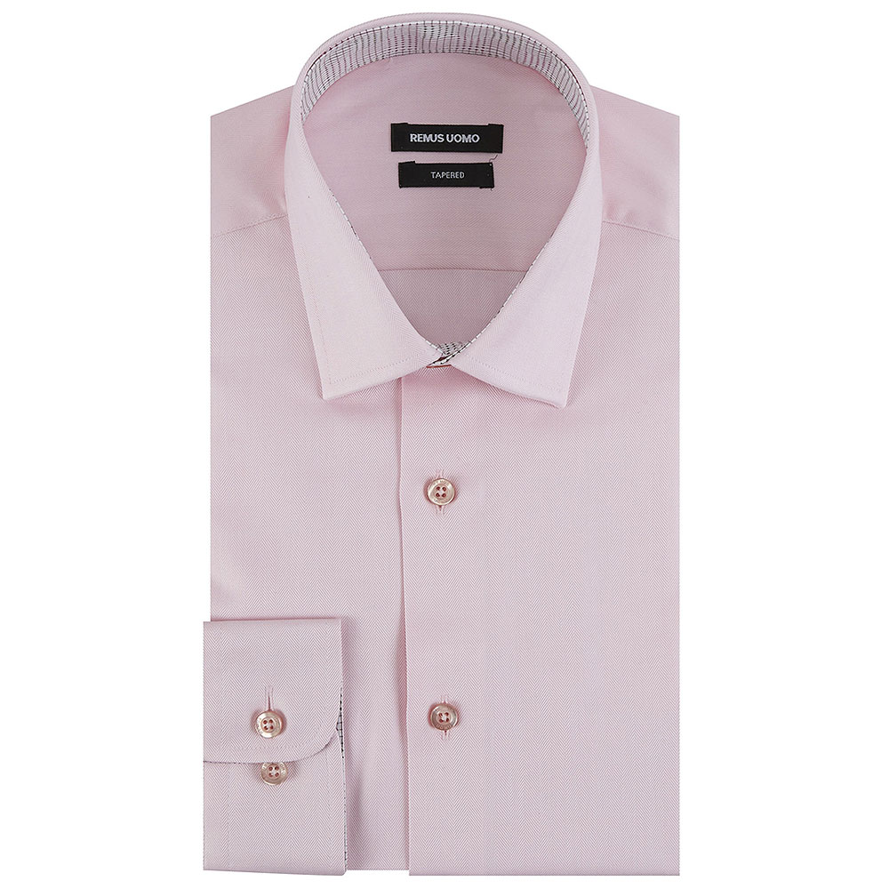 Tapered Shirt in Pink