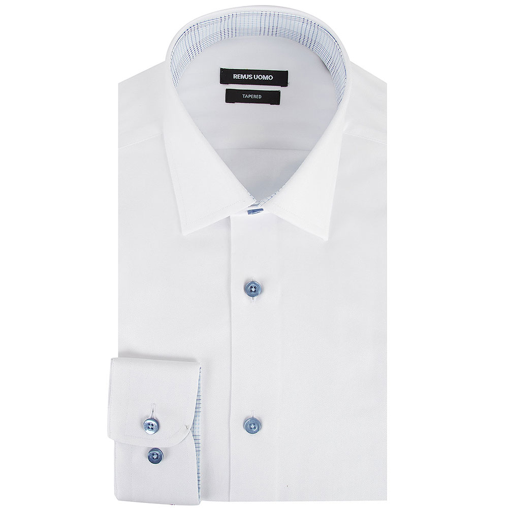 Tapered Shirt in White