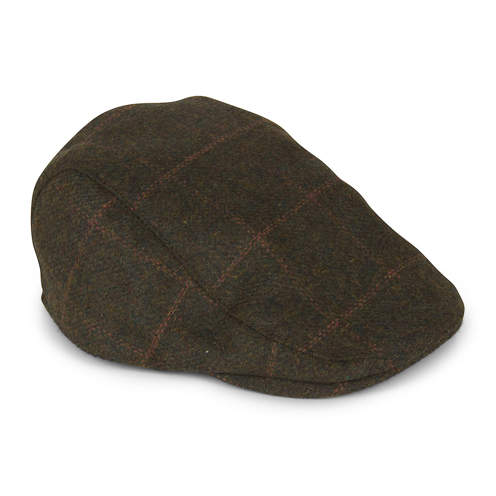 Kemson Flat Cap in Green