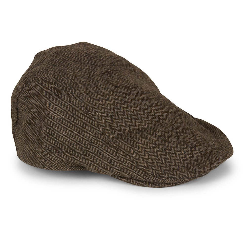 Martez Flat Cap in Brown