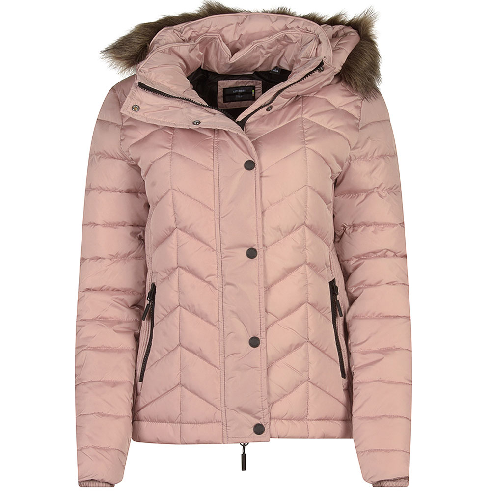 Luxe Fuji Padded Jacket in Pink