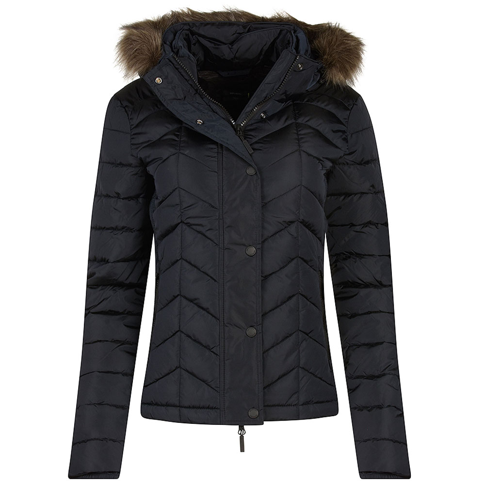Luxe Fuji Padded Jacket in Navy