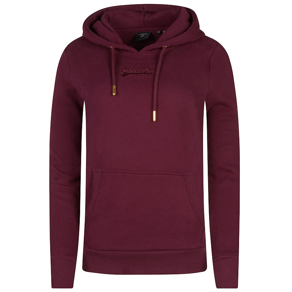 Tonal Hooded Jumper in Burgundy