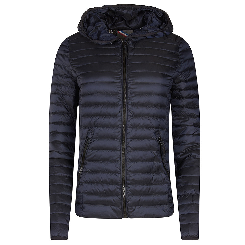 Core Down Filled Jacket in Navy