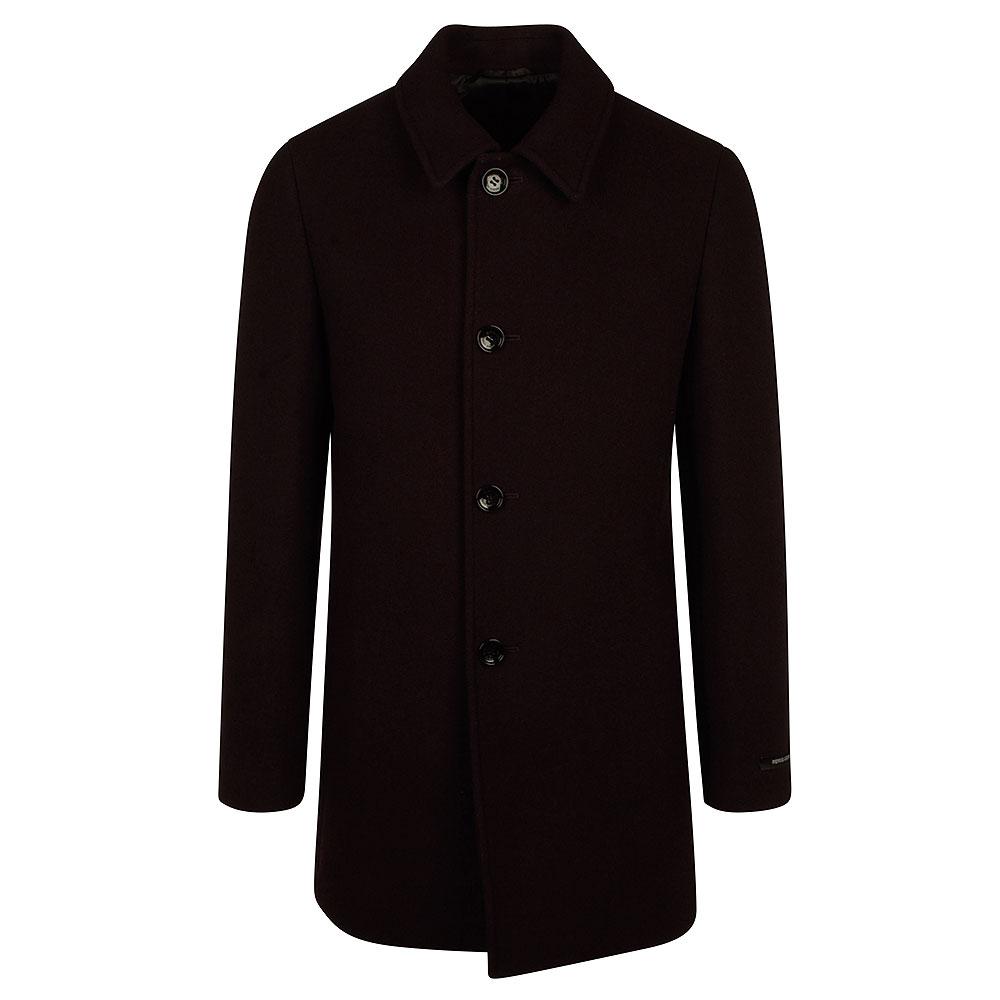 Rowan Overcoat in Burgundy