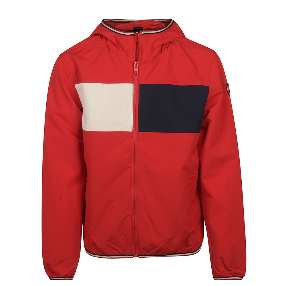 Colour Block Jacket in Red