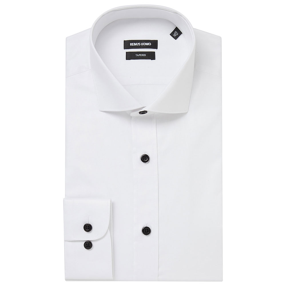 Tapered Frank Shirt in White