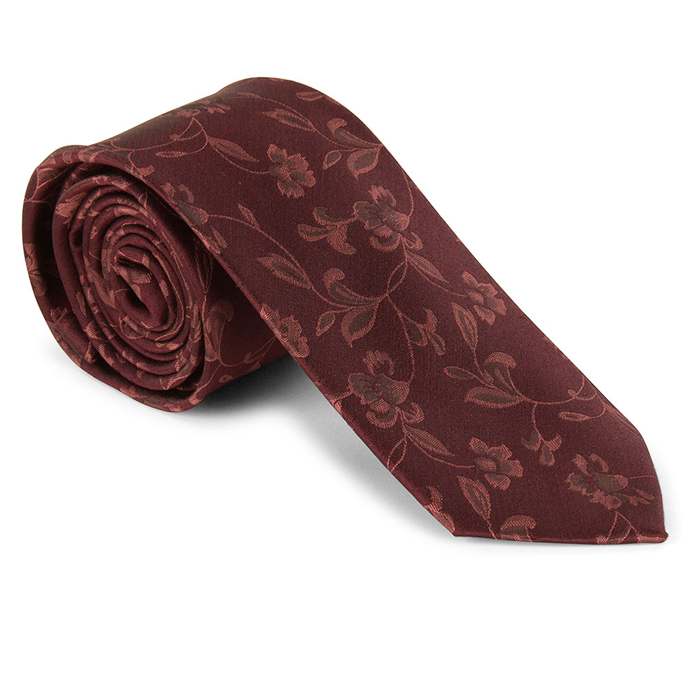 Tie and Pocket Square in Burgundy