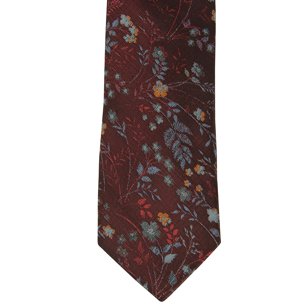 Poly Tie in Burgundy