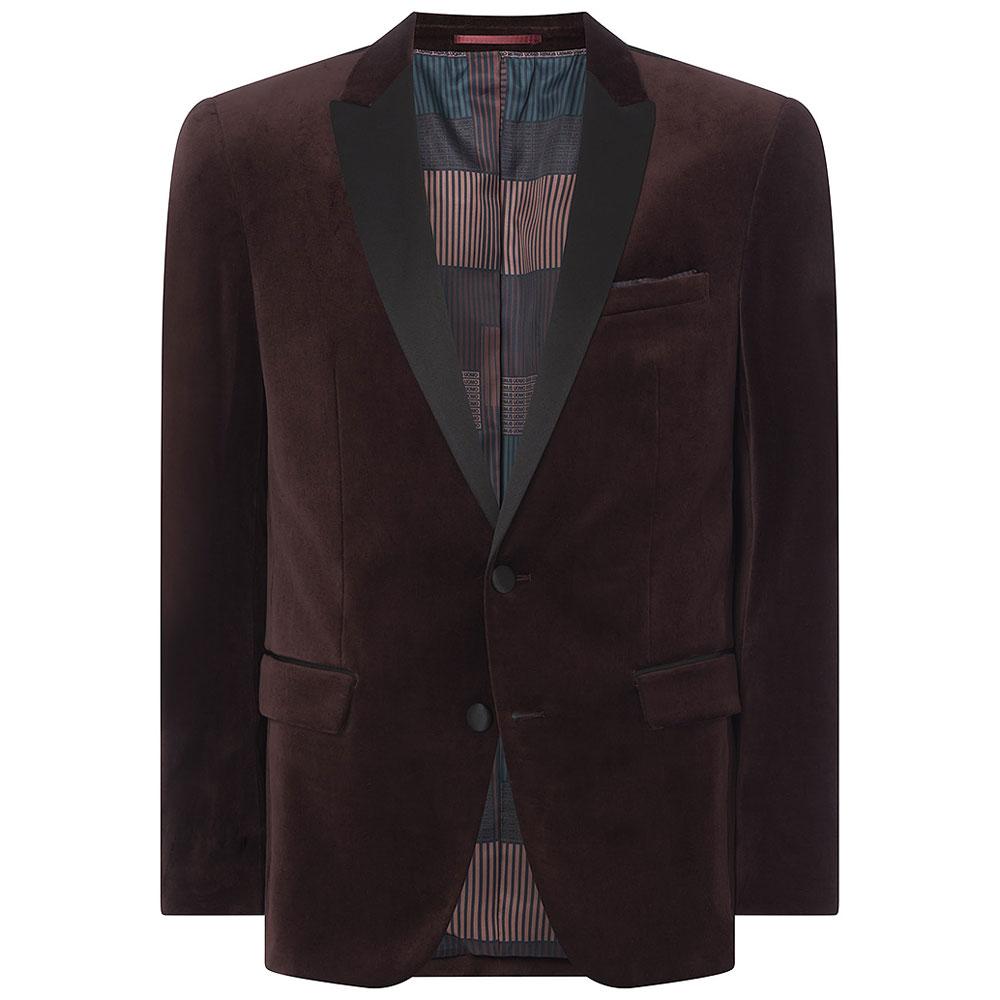 Minti-V Jacket in Burgundy