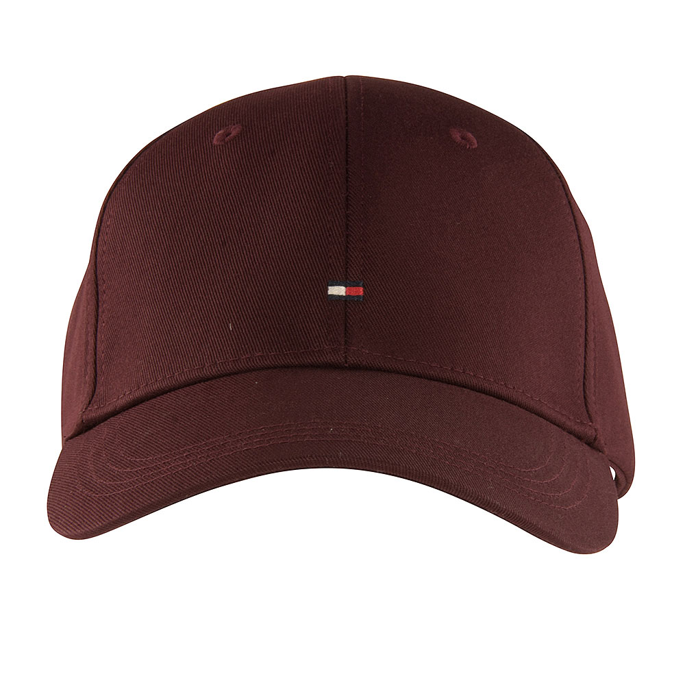 Tommy Baseball Cap in Burgundy