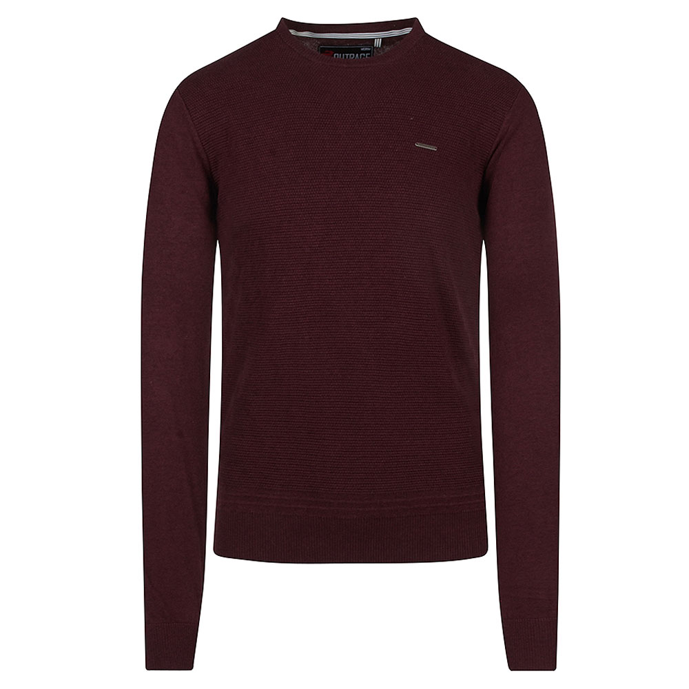 Hugh Jumper in Burgundy